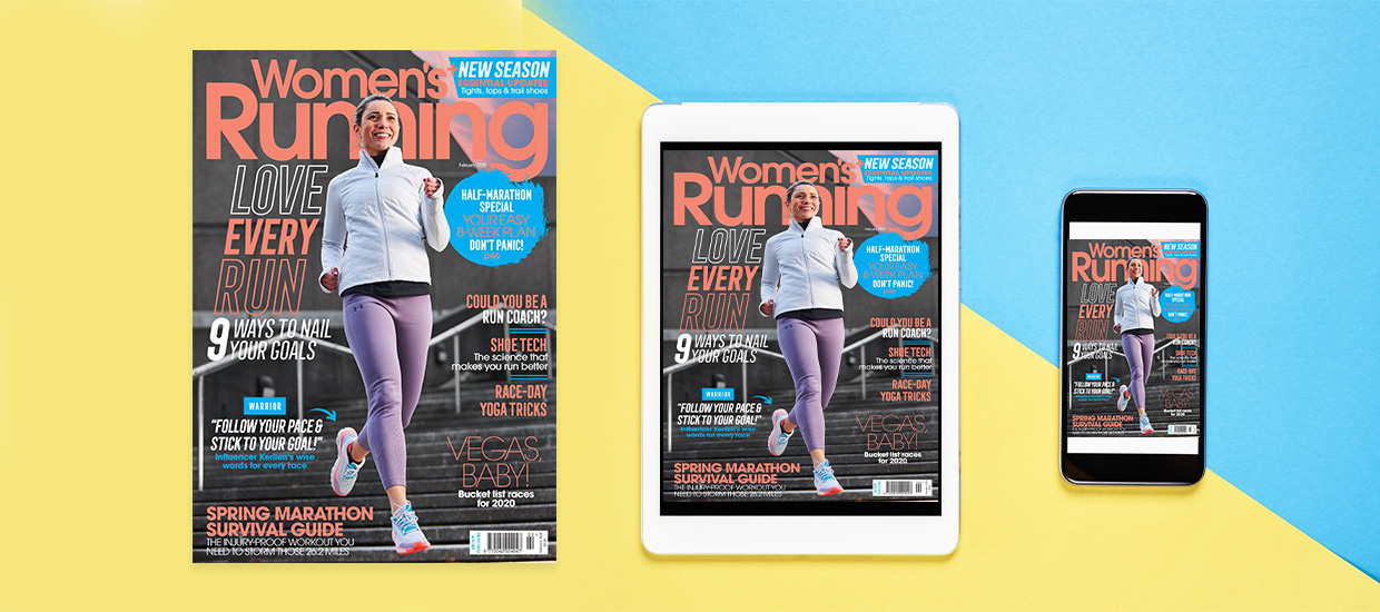 The February issue of Women's Running is on sale now!