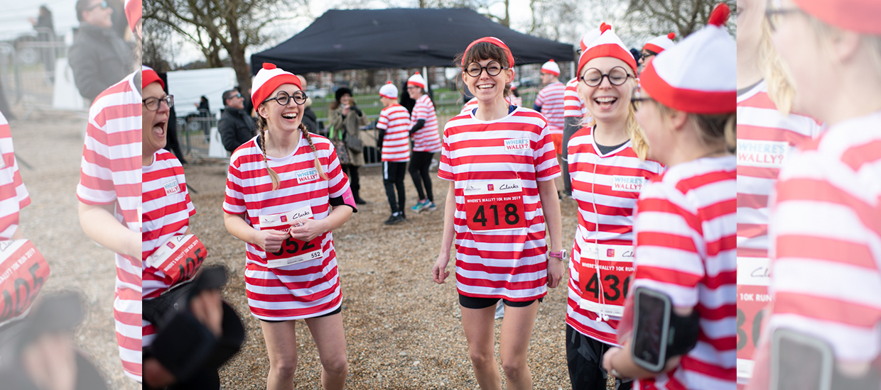 Join hundreds of families at the National Literacy Trust's Where's Wally? fun run