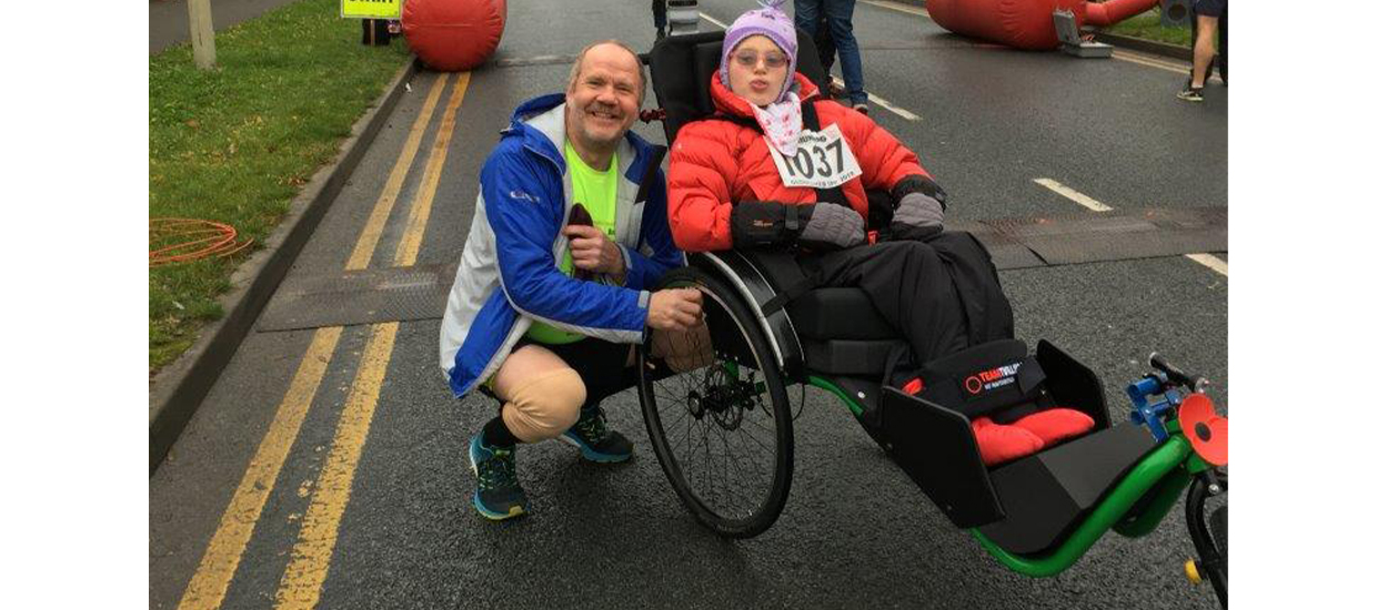Dad forms triathlon duo with teenage daughter who has cerebral palsy