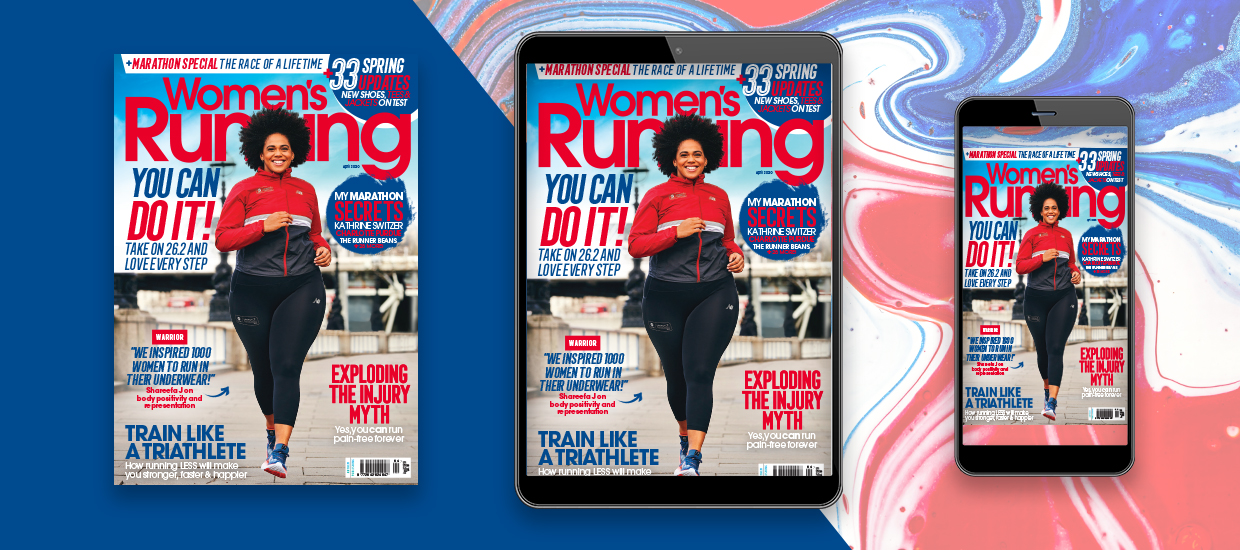 Inside the April issue of Women's Running