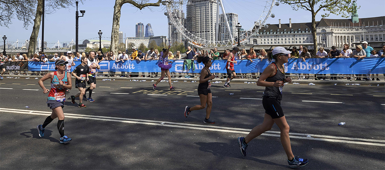 What happens if you're at the back of the pack in the London Marathon?