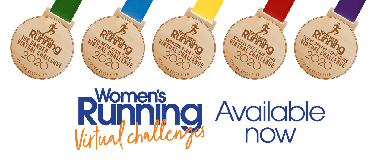 Keep motivated with our Women's Running Virtual Challenges