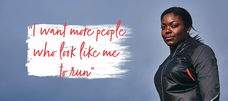 "Kemi Mafe: ""I want more people who look like me to run"""