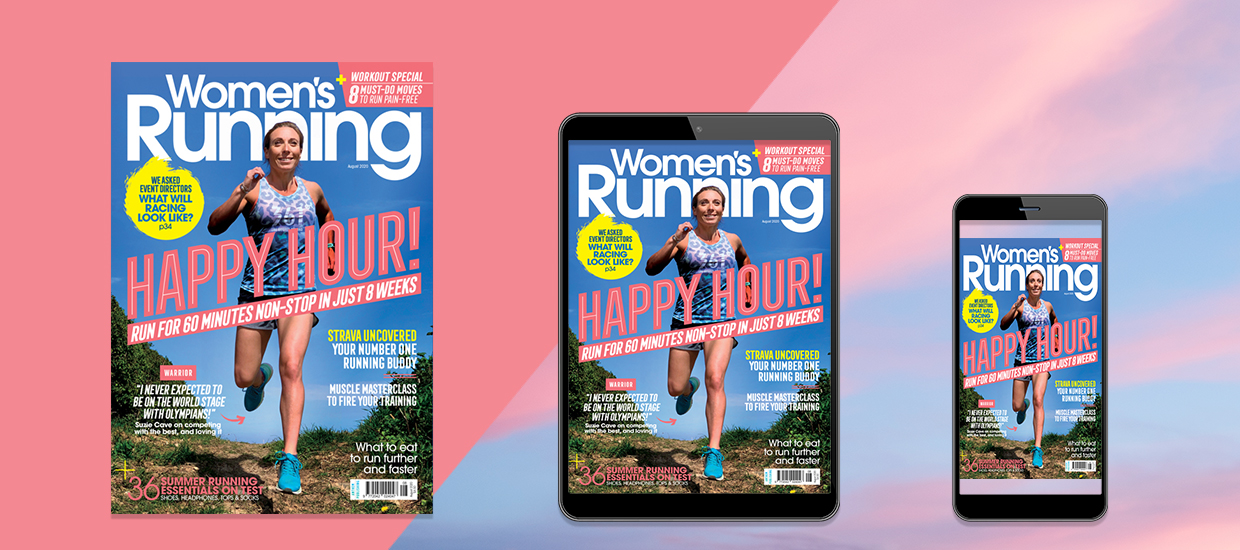 Inside the August issue of Women's Running