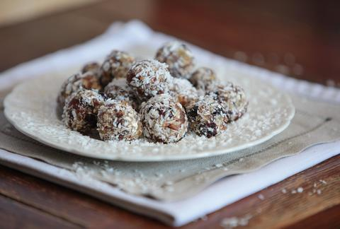 Kate Percy's coconut and date energy balls
