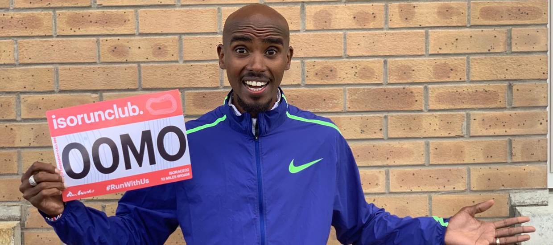 Sir Mo Farah is leading a virtual 10-mile race for ISORUNCLUB