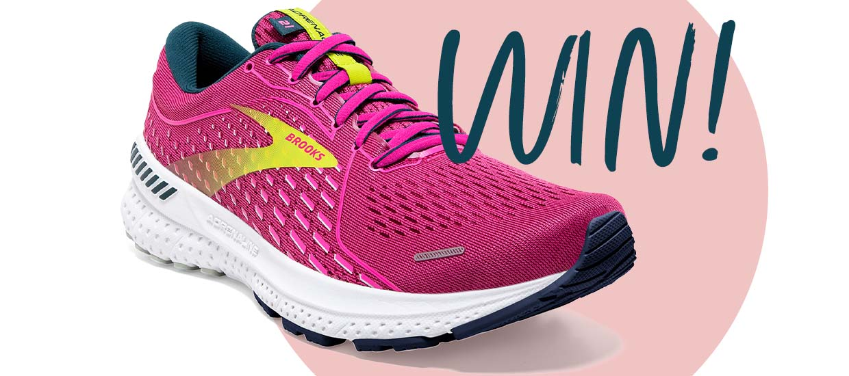 Win a pair of Brooks Adrenaline GTS 21 running shoes