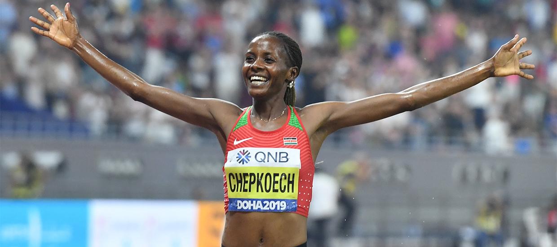 Beatrice Chepkoech breaks the women's 5K world record