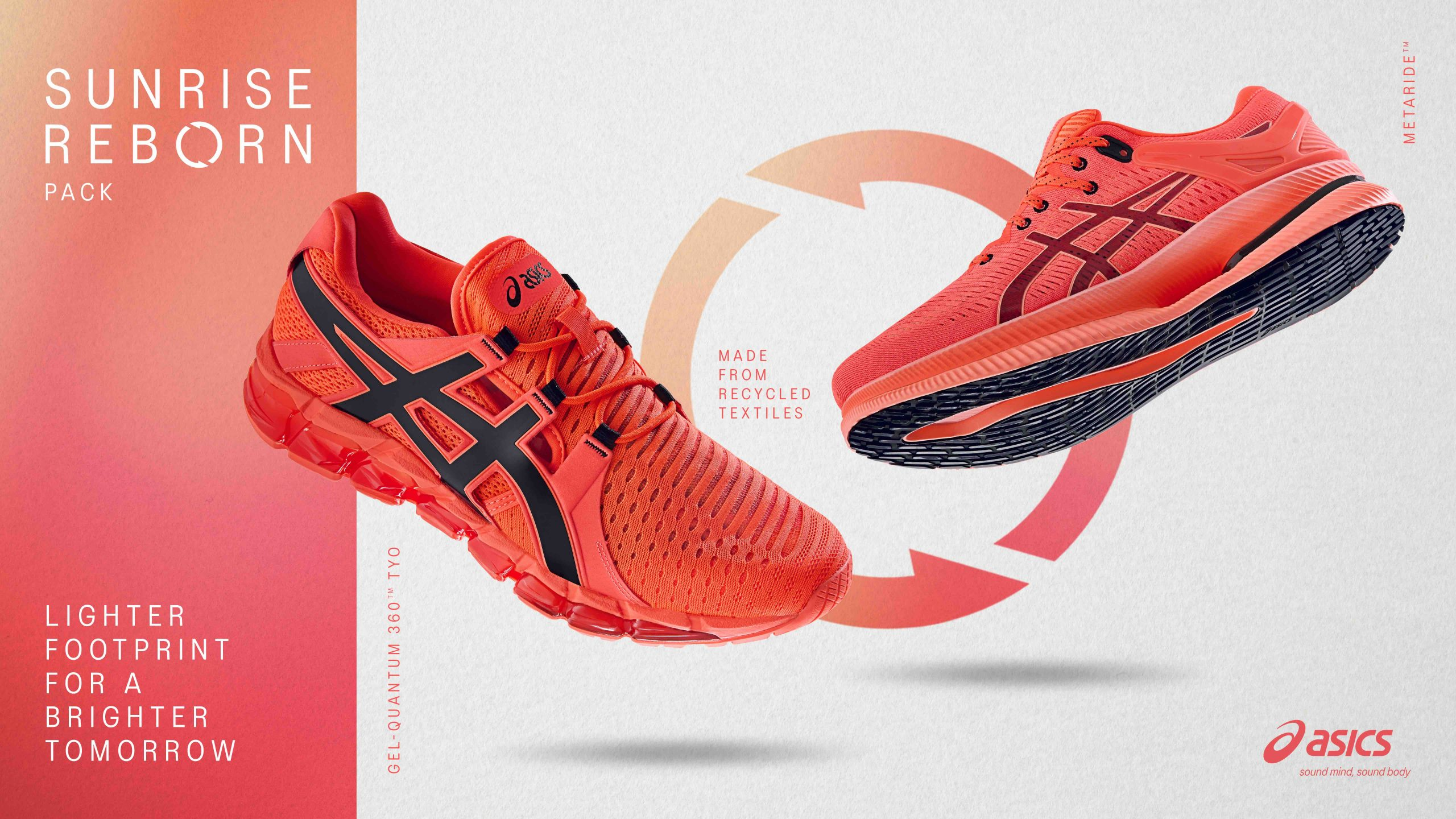 ASICS launch trainers made from recycled clothing