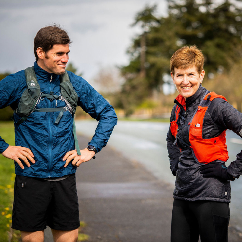 Sian and her son, Tudor, will be running 100km on 24 April for Cancer Research Wales