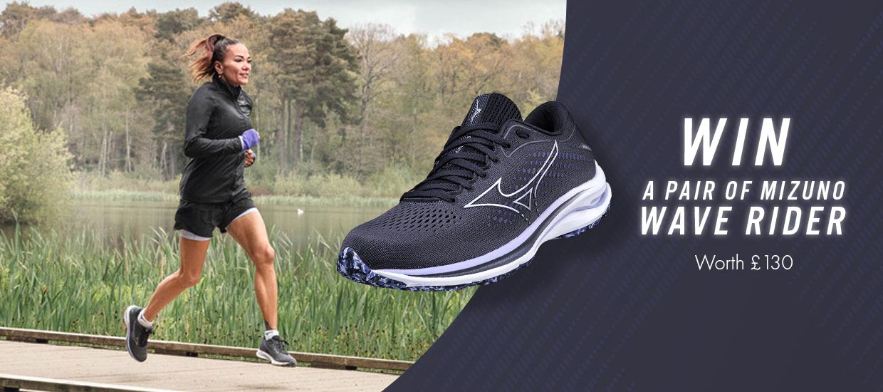 Win a pair of the latest Mizuno Wave Rider 25 running shoes!