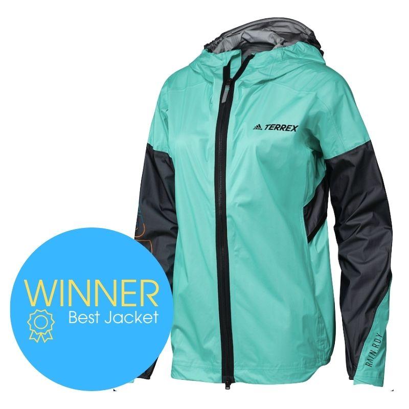 Award winner: Adidas Terrex Agravic Pro RAIN.RDY Trail Jacket